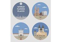 World famous places. Set 1