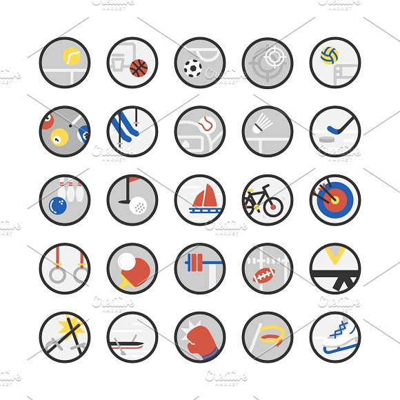 Illustration Set Of Sport Icons