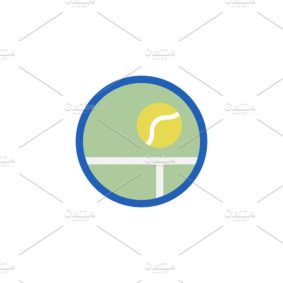 Illustration Of Tennis Ball Icon