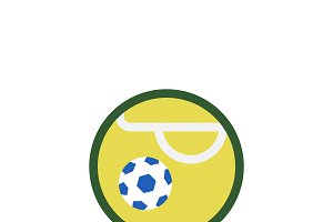 Illustration of soccer ball icon