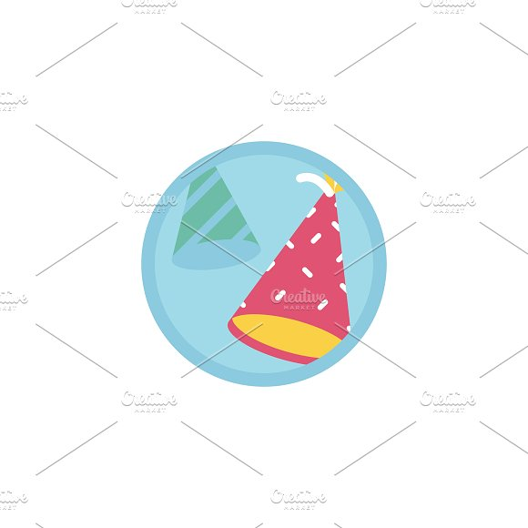 Illustration of party hats icon