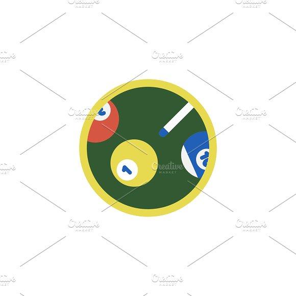 Illustration of snooker icon