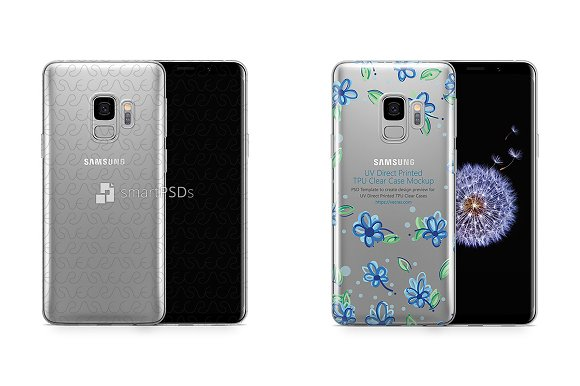 Samsung Galaxy S9 UV TPU Clear Case
