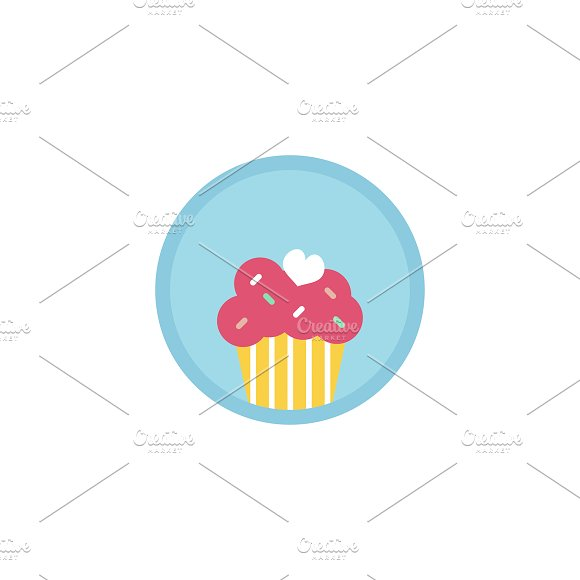 Illustration Of Cupcake Icon