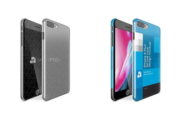 IPhone 8 Plus 3D IMD Case Mockup