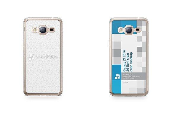 Galaxy J3 2016 2d Flexi Clear Case