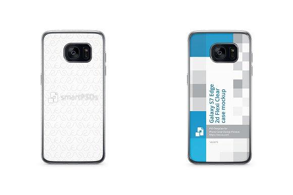 Galaxy S7 Edge 2d Flexi Case Mockup
