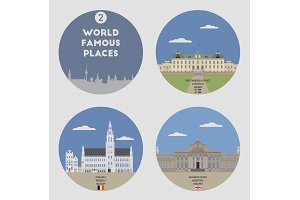 World famous places. Set 2