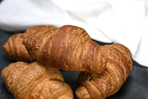 baked croissants