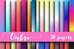 Ombre Digital Paper