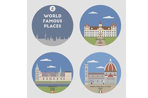 World famous places. Set 4
