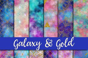 Galaxy & Gold Digital Paper