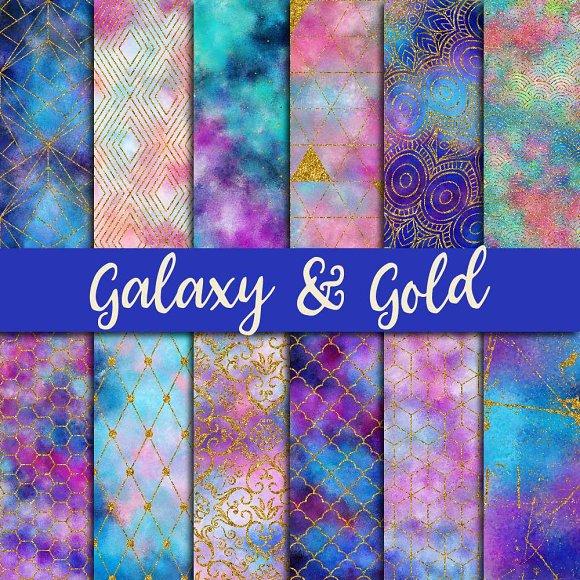 Galaxy Gold Digital Paper