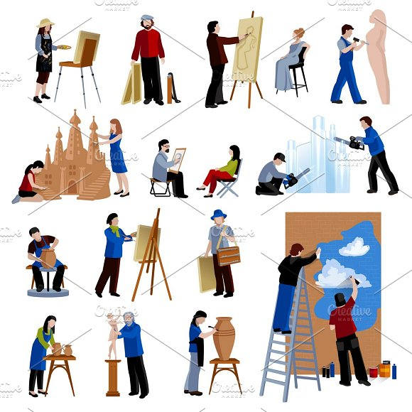 Creative Profession People Icons