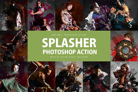 Splasher Photoshop Action
