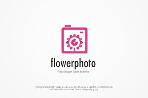 Flower Photo Logo Template