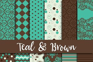 Teal & Brown Digital Paper