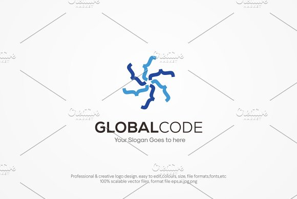 Global Code Logo Template