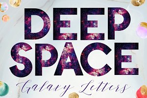 Galaxy Style Alphabet