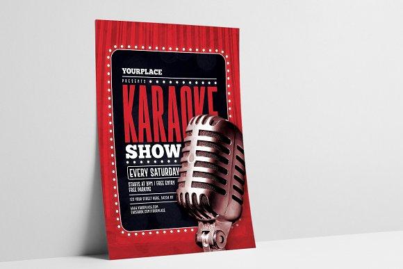 Karaoke Flyer Poster Template