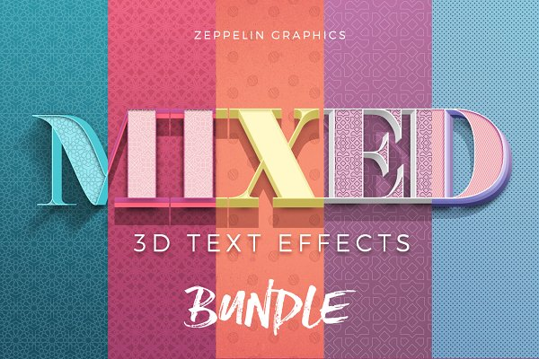 3D Text Effects Bundle Vol.3