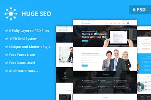 Huge Seo PSD Website Template