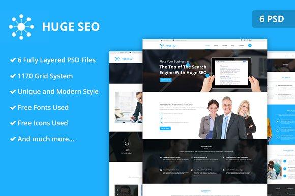 Huge Seo PSD Website Template