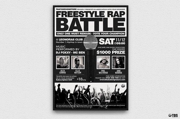Freestyle Rap Battle Flyer V4