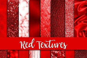 Red Textures Digital Paper