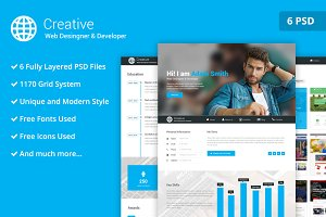 Web Desinger PSD Website Template