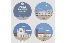 World famous places. Set 10