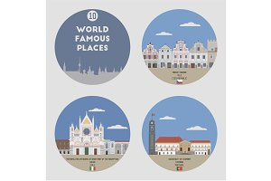 World famous places. Set 10