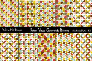 Retro Palette Geometric Patterns