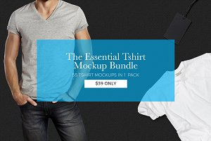 The Essential Tshirt Mockup Bundle