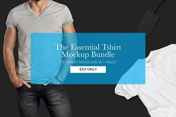 The Essential Tshirt Mockup Bundle