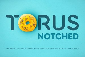 Torus Notched – 6 Dynamic Fonts