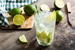 Caipirinha cocktail in glass