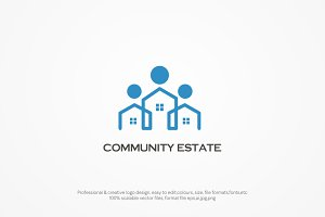 Community Real estate Logo Template