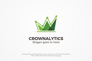 Crown Analytics Logo Template