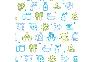 Hygiene Pattern Background. Vector