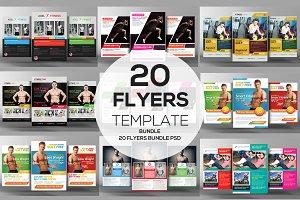 20 Health & Fitness Flyers Bundle