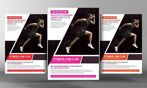 5 fitness gym sport flyers bundle flyer templates creative market