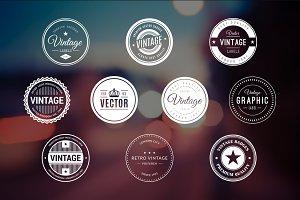 10 Retro Badges Vol. 2