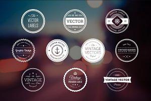 10 Retro Badges Vol. 3