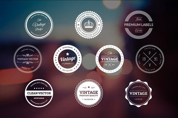 10 Retro Badges Vol. 4 - Logos