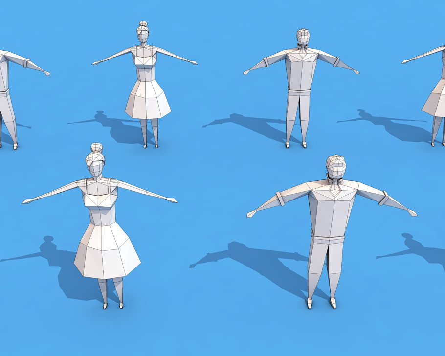 Low Poly Rigged Characters