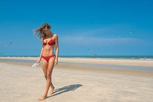 Sporty beach girl