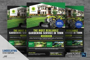 Landscaping and Lawn Cleaning Flyer