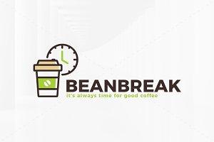 Bean Break Logo Template