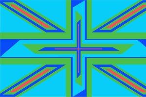 British flag background icon modern